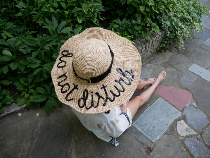 Floppy straw hats with fun messages are invading beaches and pool decks  this summer. From  495 versions from Eugenia Kim to Kate Spade s  98 Hello  Sun hat 40350cf7de8