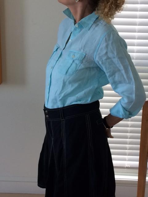 Ellen blue shirt