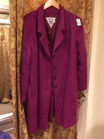 fuschia coat