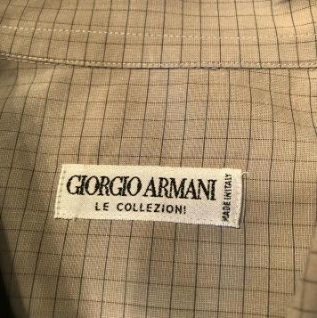 Armani label