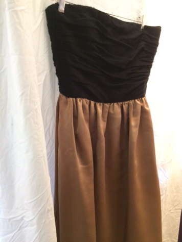 Black brown dress