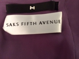 Saks label