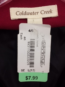 Coldwater Creek label