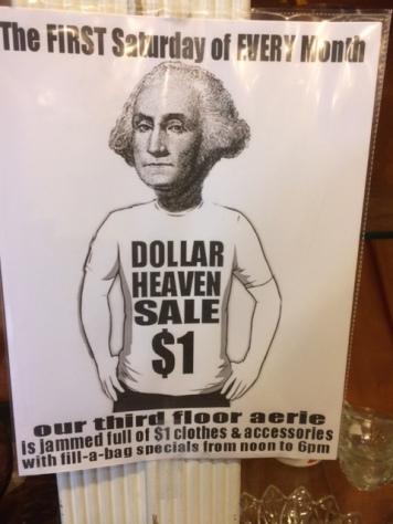 One dollar sale