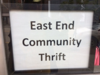 East End window sign
