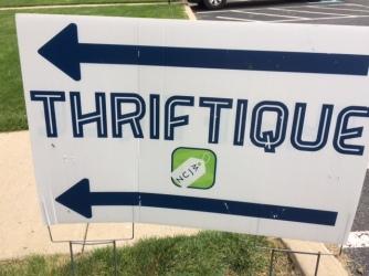 Thriftique yard sign