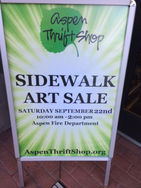 Aspen sidewalk sign