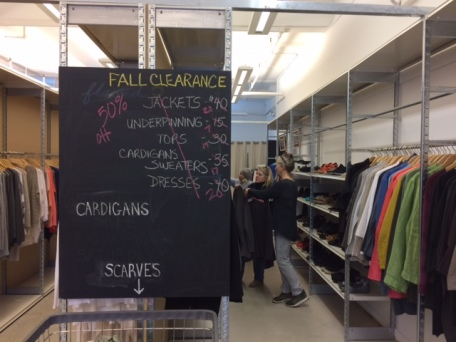 Reworked clothes are sold in a boutique within the Renew factory at Eileen Fisher headquarters in Irvington, NY.