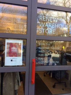 There is a warehouse store of reworked Renew garments.