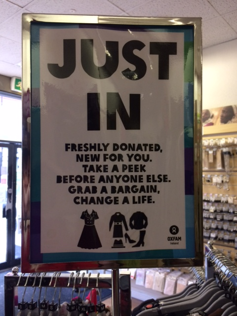 Oxfam just in sign