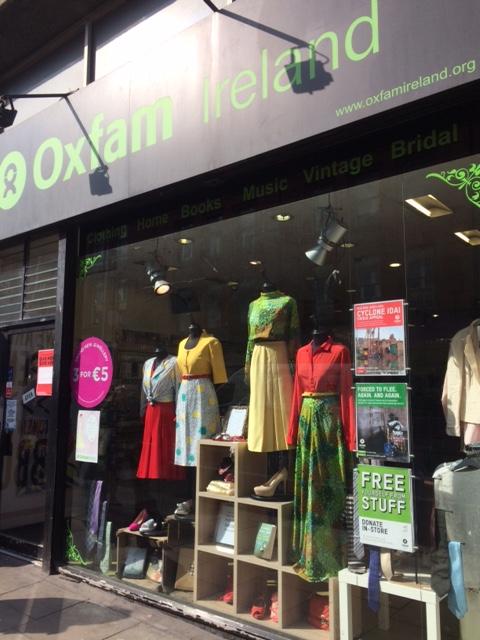 Oxfam sign